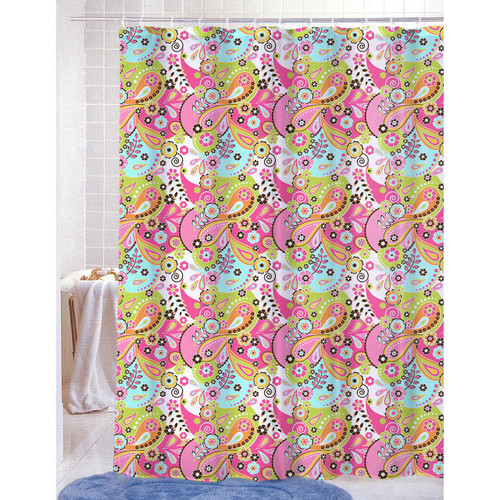 fun shower curtains for adults. PVC Free (PEVA) Printed Shower Curtain, Fun Colorful Paisley Floral Print70x72, Kelsey Curtains For Adults I