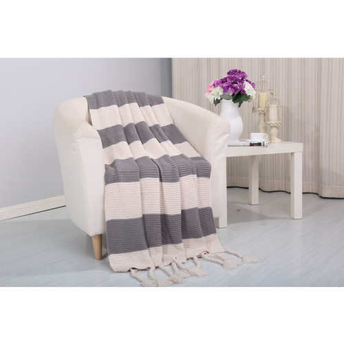 Vintage Knitted Throw Couch Cover Sofa Blanket, 50x60