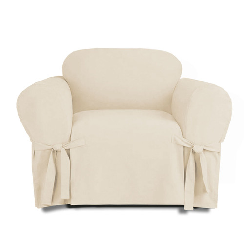 ... Linen Store Microsuede Slipcover, Furniture Protector Cover Chair Beige  ...