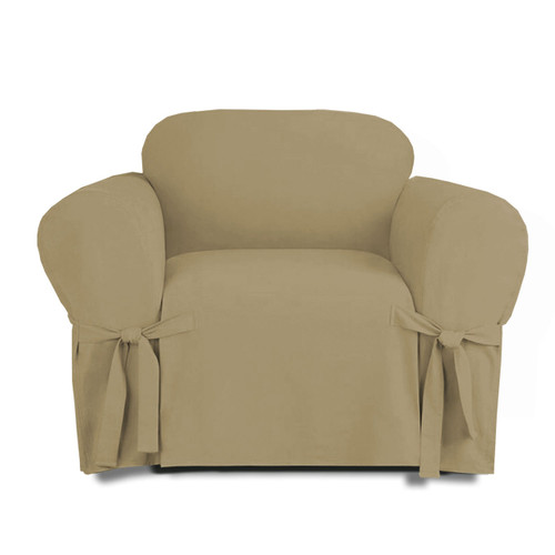 Good ... Linen Store Microsuede Slipcover, Furniture Protector Cover Chair Taupe  ...