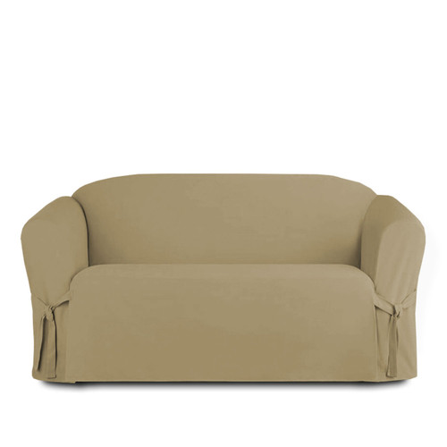 Exceptional ... Linen Store Microsuede Slipcover, Furniture Protector Cover Loveseat  Taupe ...