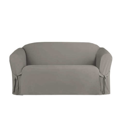 slipcovers p brushed canvas loveseat slipcover extra friday