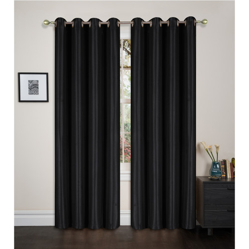 "Blackout Window Curtain Panel with Grommets, Maddie Single Panel, 54""x84"""
