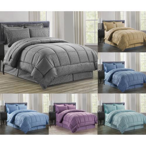 8 Piece Vine Down Alternative Bed in a Bag, Bedding Set