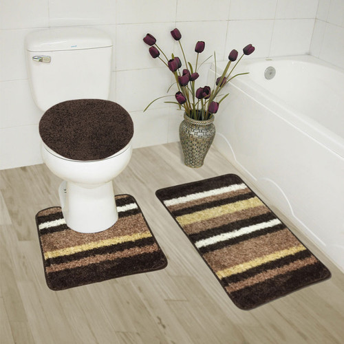 Attractive ... Abby 3 Piece Bathroom Rug Set, Bath Rug, Contour Rug, Lid Cover, ...