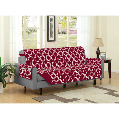 Reversible Microfiber Furniture Protector Austin With Strap & Side ...