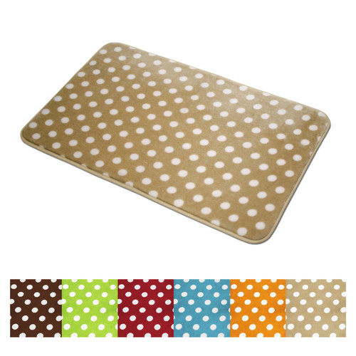 Polka Dots Microfiber Rug