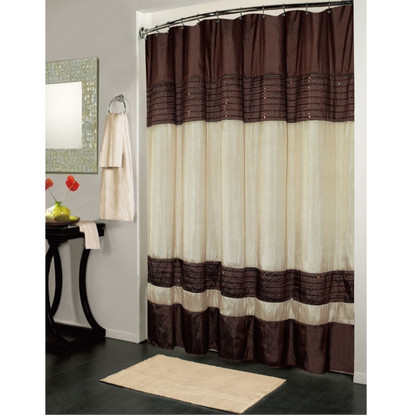 Brown And Ivory Ibiza Shower Curtain Linen Store