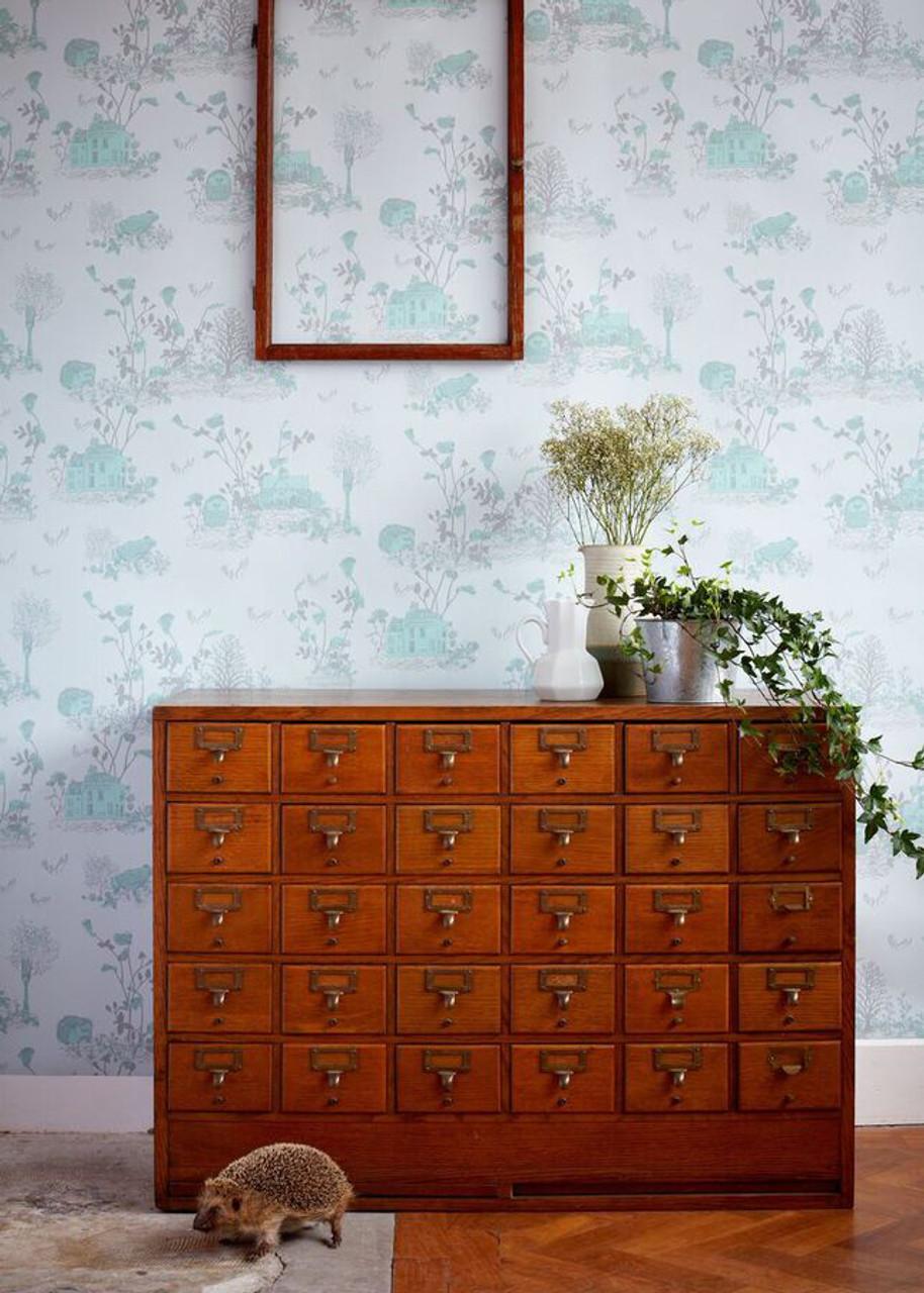Blue Woodlands Wallpaper