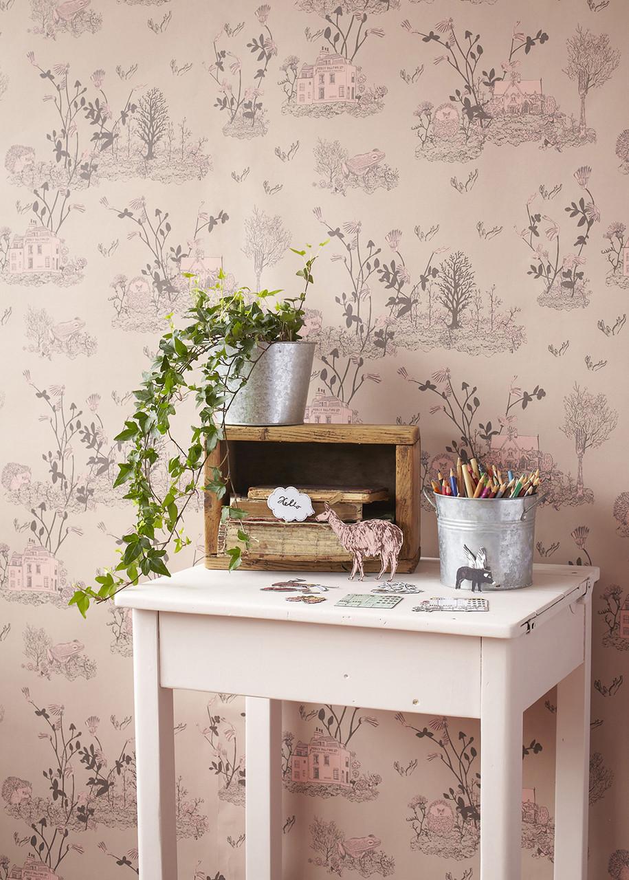 Pink Woodlands Wallpaper