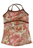 Brown and Peach Paisley Full Top