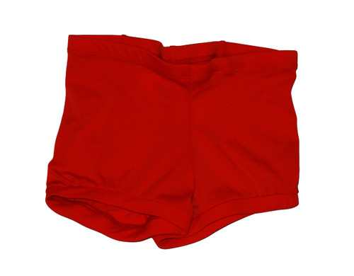Red Low Waisted Booty Shorts