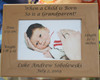Grandparents Baby Birth Frame