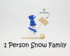 1 Person Snow Family
