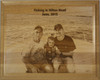 8 by 10 Alder Plaque Engraved with a vacation fishing trip