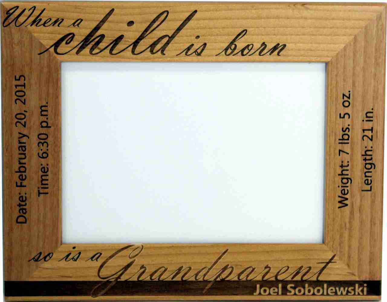 Baby birth picture frame for grandparents cin dees crafts baby birth picture frame with the grandparents in mind jeuxipadfo Images