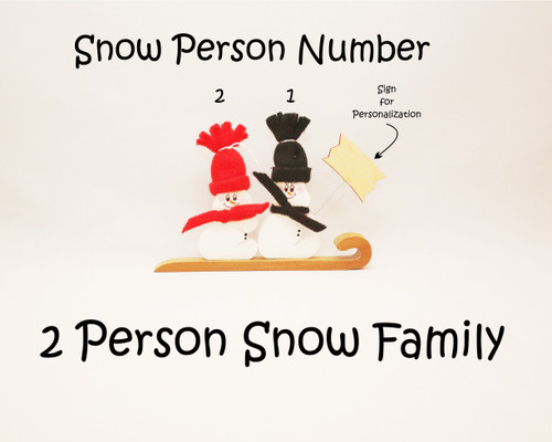 2 Person Snow Family