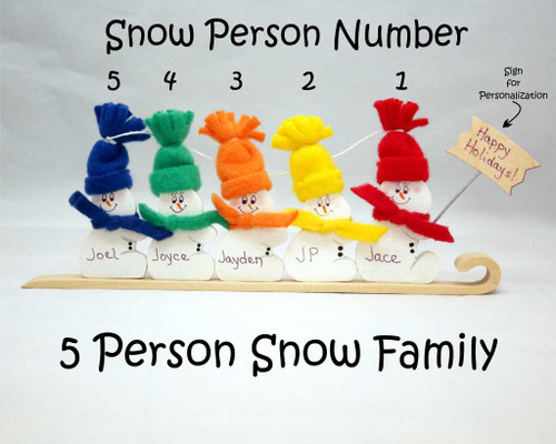 5 Person Snow Family