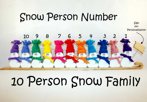 10 Person Snow Family
