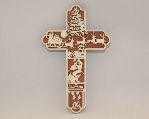 Night Before Christmas Cross