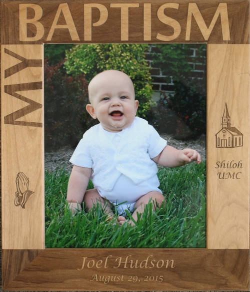 My Baptism Frame - A great gift and memento for that special child, grandchild, niece or nephew who is being baptized.