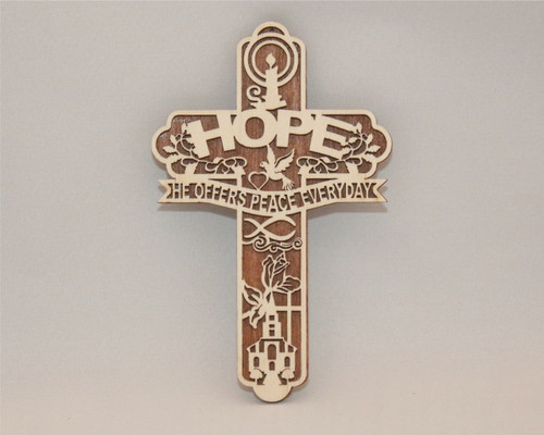 "HOPE ""He Offers Peace Everyday"" Cross"