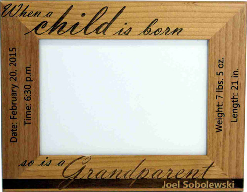 Baby Birth Picture frame with the grandparent(s) in mind.