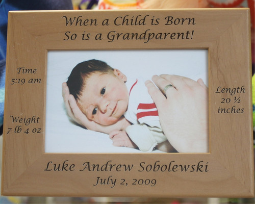When a Child is Born so is a Grandparent Frame - Cin-dee\'s Crafts