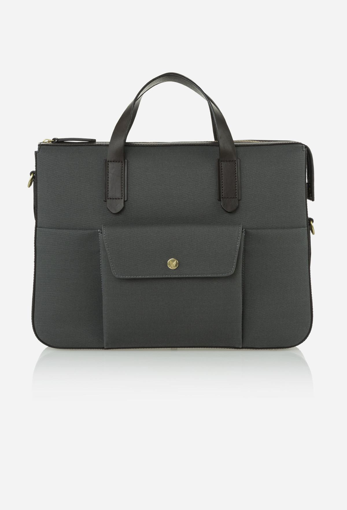 Steel Grey Briefcase