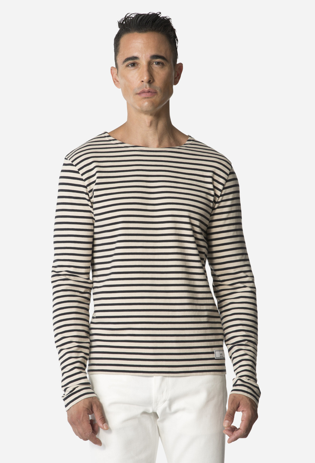 Navy/Tan Stripe T-Shirt