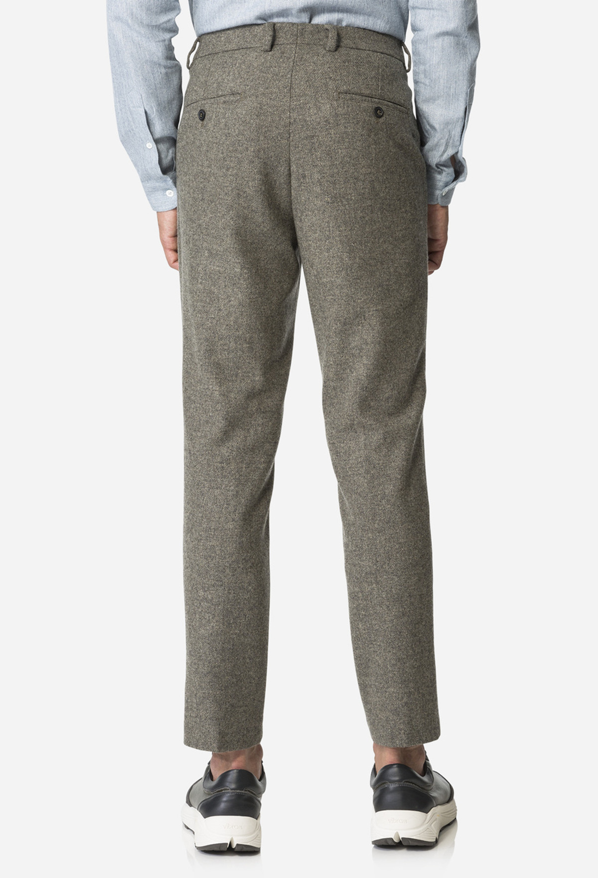 Khaki Carrott Shaped Trouser