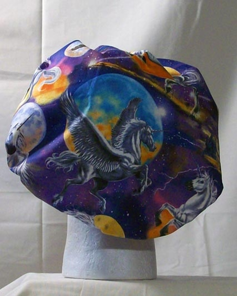 Bouffant Style Scrub Cap - Unicorn - By NoMoreKnots