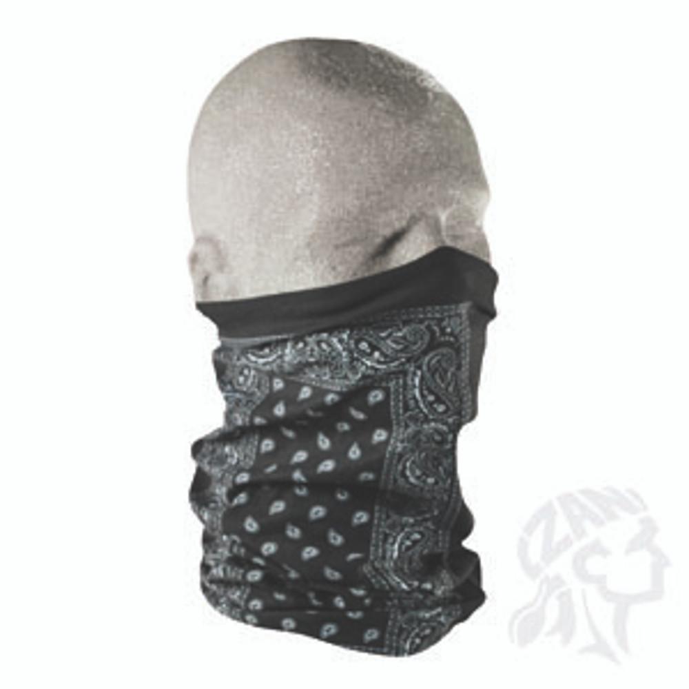 Motley Tube, 100% Polyester, Black Paisley, Multifunctional Headwear