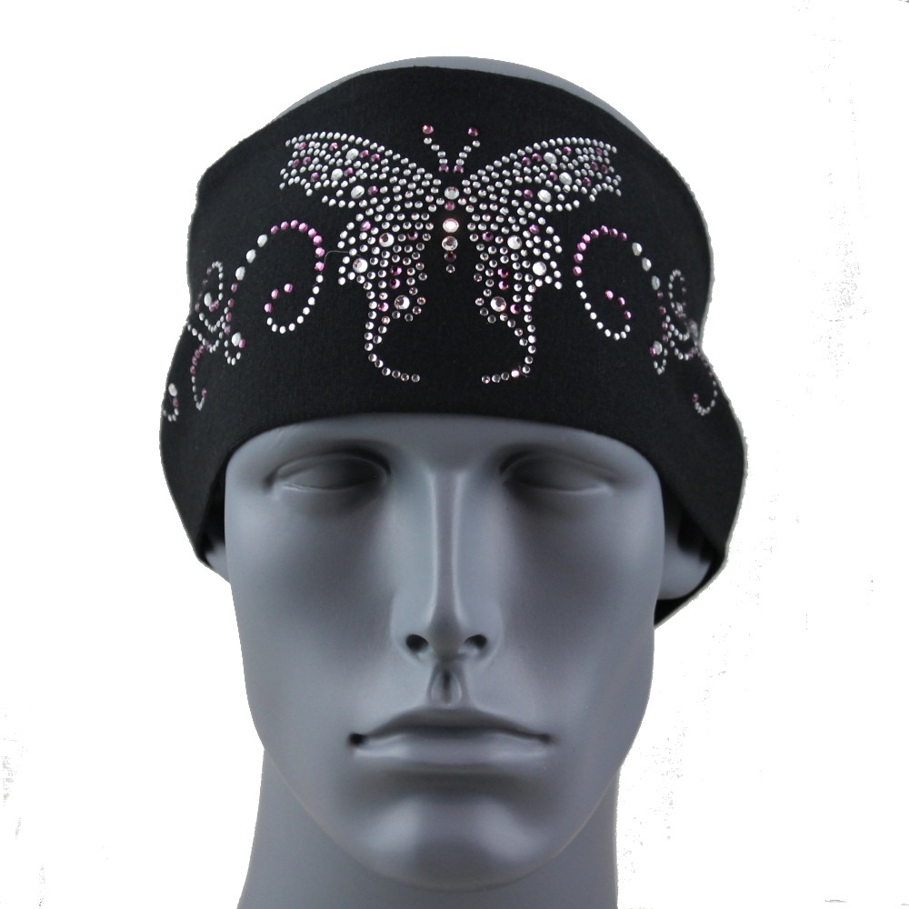 """Clear and Amethyst Butterfly 3.5"""" Headband By DesignWraps"""