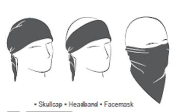 3-IN-1 Headband System, 100% Cotton, Navy Paisley, Velcro