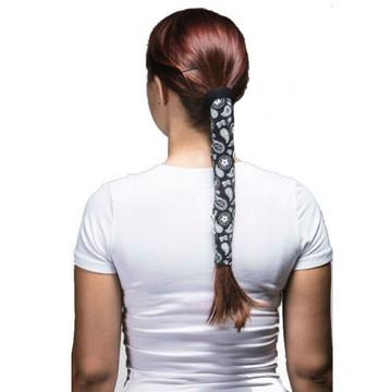 Wrapter Hair Tube - Black Paisley