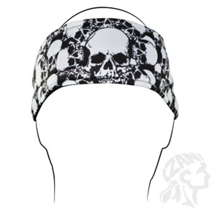 Headband, All Over Skull