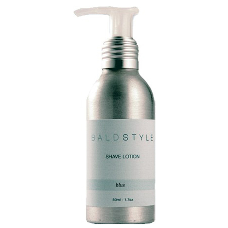 BaldStyle - Shave Lotion - Blue - Scented With Natural Oil - 4 oz