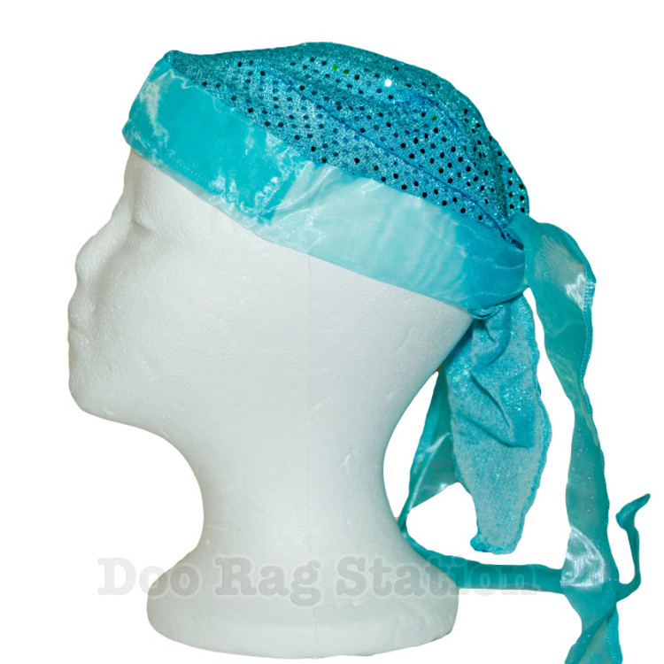 Light Turquoise Glitter By Doo Rag Station