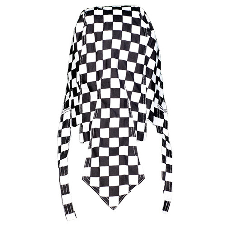 """Rider Headwrap - Checker 1"""" - Black/White Squares"""