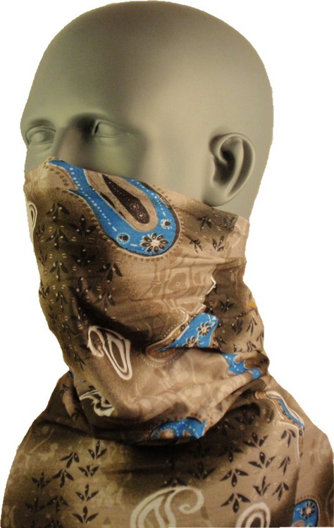 Schampa Tube, Gray Blue Paisley, Multifunctional Headwear