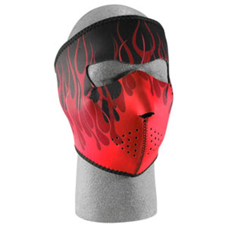 Red Flames - Neoprene Face Mask