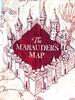 Marauder's Map Print Dress