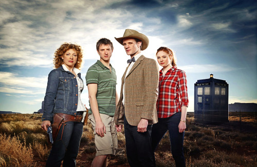The 11th Doctor, River Song, Amy Pond, and Rory Series Six Promotional Print