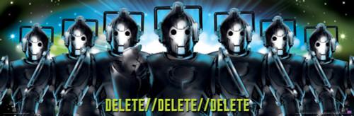 """Cyberman Delete Poster 36"""" X 11.75"""""""