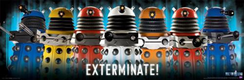 "Daleks Exterminate Poster 36"" X 11.75"""