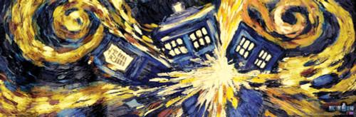 "Exploding TARDIS Office Poster 36"" X 11.75"""