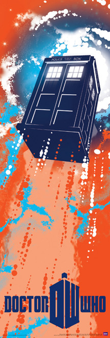 "TARDIS Taking Off Poster 11.75"" X 36"""
