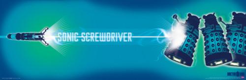 "Sonic Screwdriver & Daleks Poster 36"" x 11.75"""