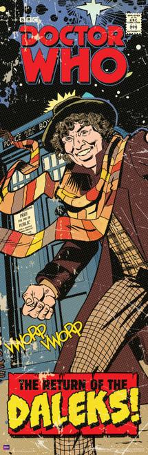 "Return of the Daleks Comic Cover Door Poster 11.75"" X 36"""